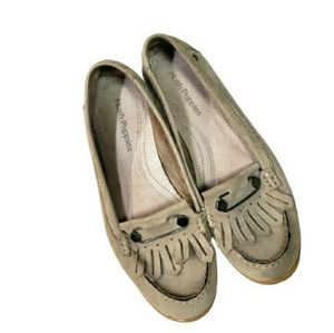 Hush Puppies Shoes Taupe Loafers Suede sz 8 Flats